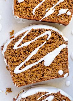 Healthy gingerbread loaf made with whole wheat or spelt flour, applesauce, honey or dates, a coconut milk icing and no sugar.| ifoodreal.com
