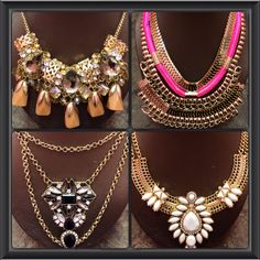 Make a statement with these new pieces. www.shopspoiledgirl.com