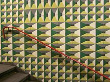 Subway tiles in Lisbon by Maria Keil