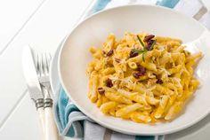 "Post image for Gluten Free ""Creamy"" Butternut Squash Pasta Recipe butternut squash, pasta recipes, food, gluten dairy free, gluten free cooking, gluten free pasta, eat, dairi free, cranberries"