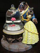 RARE Disney Beauty & the Beast Rose Belle Snowglobe Globe Glass Dome Figurine