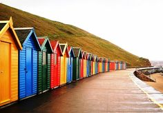 I must go to Whitby! Beach huts in Whitby, England Got my pic taken in front of… British Beaches, British Seaside, British Isles, Seaside Beach, Beach Huts, Seaside Towns, Whitby England, England Uk, North Yorkshire