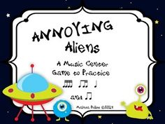 Annoying Aliens: A Center Game to Practice Ti-Tika, Tika-Tika, Ta, and Ti-Ti for Kodaly or Orff Elementary Music Classroom