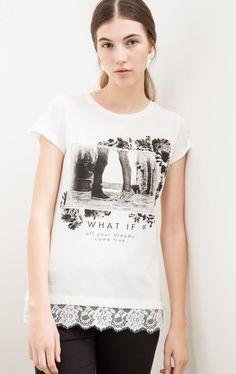 T-shirt cotone viscosa ricami floreali | OVS