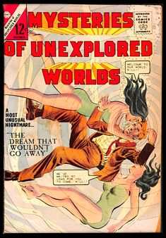 *Possibly Pat Muselli pencils; Dick Giordano inks, or Giordano for pencils and inks. (GCD) Sci Fi Comics, Horror Comics, Sci Fi Books, Comic Books, Charlton Comics, Classic Comics, Silver Age, Comic Book Covers, Sci Fi Fantasy