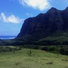 Kualoa Ranch...yes, where the filmed Lost. And we flew over it in a helicopter