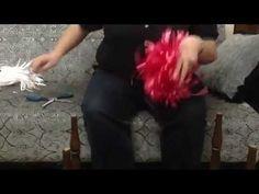 23 NİSAN için pratik Rafyadan PONPON yapımı.ponpon nasıl yapılır? - YouTube