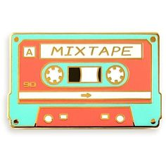 Pinsanity Retro Cassette Mixtape Enamel Lapel Pin (13 AUD) ❤ liked on Polyvore featuring jewelry, brooches, enamel brooches, retro jewelry, pin brooch, retro style jewelry and enamel jewelry