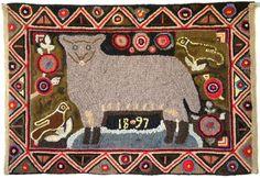 Primitive Folk Art Hooked Rugs | Reproducing an Antique Rug | Rug Hooking Magazine