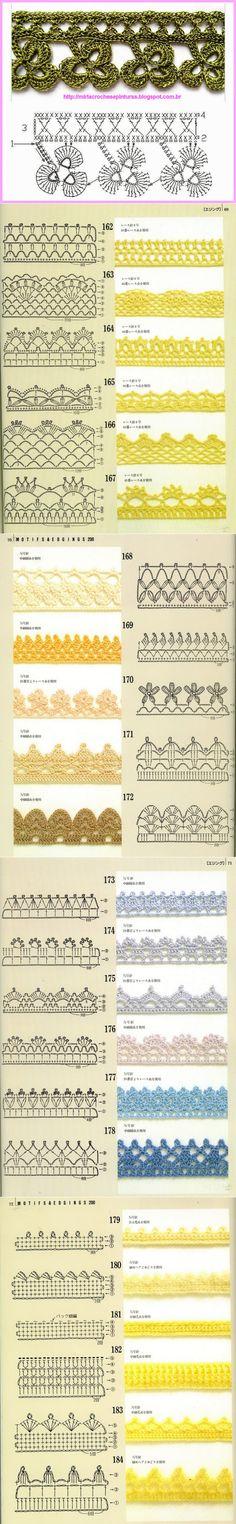 КАЙМА ОБВЯЗКА КРАЯ Crochet Trim, Crochet Shawl, Crochet Lace, Free Crochet, Crochet Borders, Crochet Flowers, Crochet Projects, Free Pattern, Crochet Motif