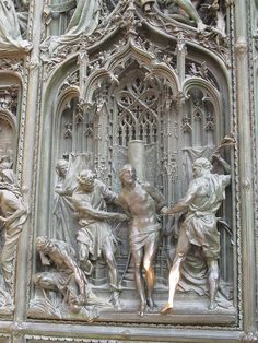 The amazing doors of the Duomo in Milan.