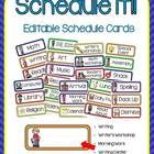 Print and edit these bright schedule cards for your classroom! Can be used as is or customized to fit the needs of your classroom!! Detailed direct...