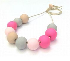 Neon and Neutrals Necklace :)