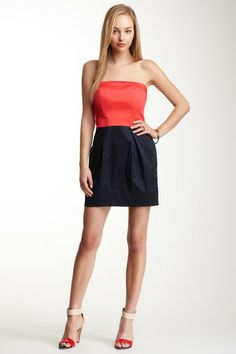 French Connection Wizard Colorblock Strapless Dress by The Ultimate Dress Shop on @HauteLook