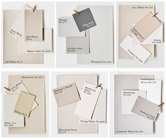 Farrow & Ball Paint Colours - LOVE the Architectural Cool palette