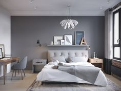 Make Your Fall Season perfectly with these Fall Bedroom Decorating Ideas. Fall bedroom ideas according to Fall or Autumn colors. Interior, Small Master Bedroom, Cozy Bedroom Colors, House Interior, Modern Bedroom, Small Bedroom, Bedroom Wall, Interior Design Bedroom, Trendy Bedroom