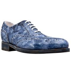 Cézanne - Hand painted elevator shoes. Upper in hand painted full grain leather, leather heel with special anti-slip rubber, cotton waxed shoe laces. Hand Made elevator shoes in Italy by www.guidomaggi.com/us