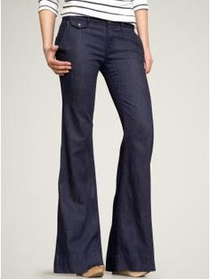 Wide leg trouser jeans from GAP- it won't be jeans weather for a few months here, but I'm really into flare/wide-leg styles!  $52.46