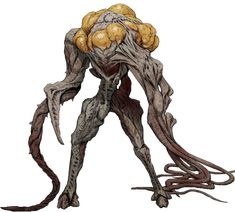 The Abomination is a large and powerful Flood key mind war-form. Monster Concept Art, Alien Concept Art, Creature Concept Art, Monster Art, Fantasy Demon, Fantasy Monster, Dark Fantasy, Cool Monsters, Horror Monsters