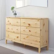 A 6 drawer TARVA dresser made of solid pine wood - Ikea DIY - The best IKEA hacks all in one place Grey Bedroom Furniture, Bedroom Dressers, Ikea Bedroom, Retro Furniture, Ikea Furniture, Ikea Sofa, Furniture Stores, Asian Furniture, Steel Furniture