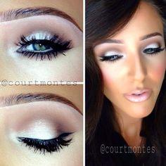Blanc type by Mac as brow highlight. Malt eyeshadow my Mac in the crease. Embark by Mac on outer corner. #eyeshadows
