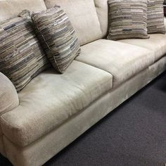 Neutral chenille sofa good foundation for any room! . . . #sofa #furniture #homedecor #homestyle #consignment #resaleshop  #shopping #interiordesign #interdesigner #decor #decorator #realestate #ranchomirage #palmsprings #palmdesert #laquinta #indianwells #cathedralcity #beverlyhills #oc #lajolla #canada #california #lajollalocals #sandiegoconnection #sdlocals - posted by April Reichle⚜  https://www.instagram.com/aboveallconsignments. See more post on La Jolla at http://LaJollaLocals.com