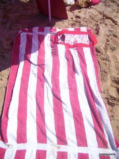 made by sónia  Suporte toalha de praia com bolsa - Holder beach towel with  pocket - Tutorial a1ec6c20c0d6f