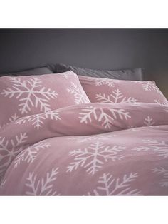 Shop at Ireland's largest online department store for all of the latest fashion, gadgets and homewear with FREE delivery and FREE returns on your orders. Best Bedding Sets, Duvet Sets, Duvet Cover Sets, Pink Bedding, Luxury Bedding, Snowflake Designs, Christmas Snowflakes, Brown, Quilt Cover Sets