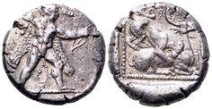 AR Stater. Greek, Cyprus, Kition, Baalmelek II. Circa 425-400 BC. 22mm, 10,95g, 4h. Sunrise 110. Good VF. Rare ! Price realized (2.7.2016): 1.669 EUR.