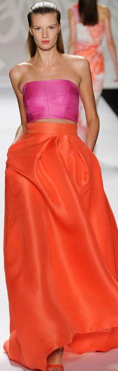 Craving orange skirts this spring Monique Lhuillier S/S 2014
