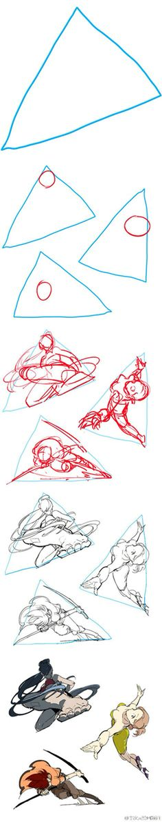 Triangle--practice of motions