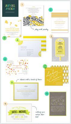 REVEL Picks: Citrus Wedding Invitations