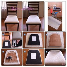 Diy Upholstered Dining Chairs how to re-cover a dining room chair | dining chairs, room and