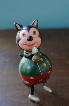 Vintage Wind Up Cat Tin Litho & Celluloid Occupied Japan Felix The Cat #OccupiedJapan
