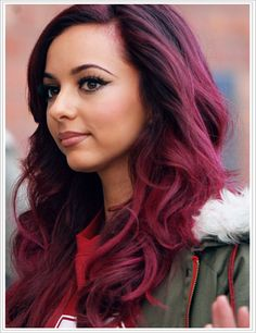 Jade Thirlwall's hair! this is to die for! i dont know if id be able to color my whole head that color, but i think i could pull off highlights or dip-dyed.