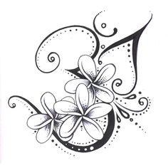 New Style Swirls And Flower Tattoo Designs