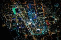ニューヨークの夜景を上空2300メートルから見れば、まるで精密回路のようだ(画像)   The Huffington Post