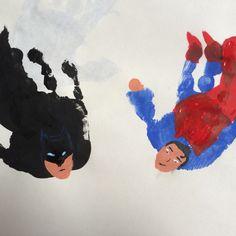 Handprint Superheroes!