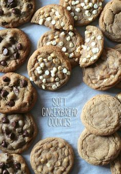 These are the BEST Soft Gingerbread Cookies ever! They are buttery, soft, melt in your mouth cookies with the perfect amount of ginger and cinnamon. Köstliche Desserts, Delicious Desserts, Dessert Recipes, Yummy Food, Ginger Bread Cookies Recipe, Yummy Cookies, Cookie Recipes, Ginger Cookies, Holiday Baking