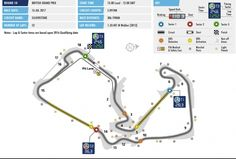 Circuit map of Silverstone