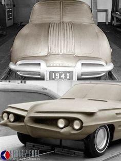 Experimental Pontiac clay models