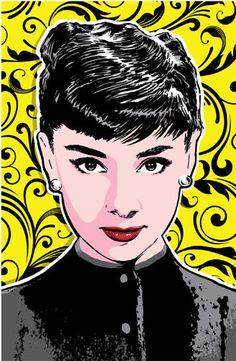 Audrey Hepburn Pop Art Print 13x19 by RedRobotCreative on Etsy, $25.00
