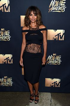 Halle Berry wearing the Jimmy Choo XENIA sandals at the 2016 #MTVMovieAwards