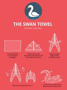 Animal Folding Infographic: Ultimate Guide to Create Your Own Towel Animal Towel Animal Folding Infographic: Ultimate Guide to Create Your .Towel Animal Folding Infographic: Ultimate Guide to Create Your . Bathroom Towels, Bath Towels, Kitchen Towels, Towel Swan, Massage Corps, Diy Para A Casa, Towel Origami, Napkin Origami, Towel Animals