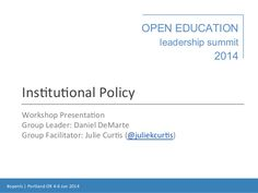 Institutional Policy #openls 2014