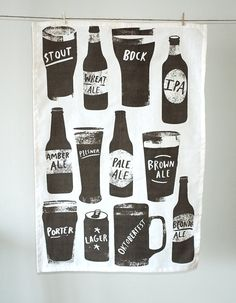 Beer towel by redcruiser on Etsy, $15.00