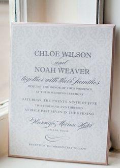 Simple and elegant wedding invitation by Imaj Design. Styled shoot by Crystal Frasier Weddings. #wedding #invite