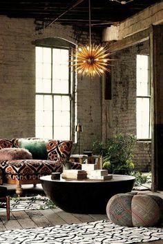 Bohemian loft space