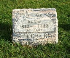 Tombstone Tuesday - La Von Becher, Zion Lutheran Cemetery, Chattanooga, Mercer County, Ohio. (2011 photo by Karen) #genealogy
