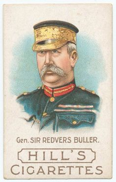 General Sir Redvers Buller, featured on a vintage cigarette card produced in London circa General Redvers Buller was decorated with the Victoria Cross for his heroic actions in the Zulu War,. Battle Of Borodino, Vintage Dance, Girl Drawing Sketches, Modern Warfare, New York Public Library, African History, British Army, Football Cards, Military History